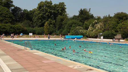 Letchworth outdoor swimming pool.