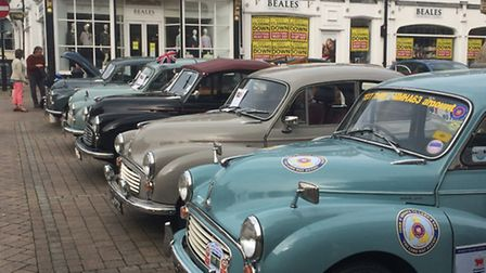 In celebration of the 40th anniversary of the Morris Minor Owner's Club, Morris Minors were on displ