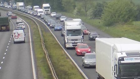 There are severe delays on the A1(M) southbound near Stevenage and Letchworth this morning.
