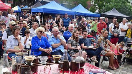 Crowds at the Hitchin Food and Drink Festival. Picture: Alan Millard.