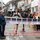 Race winner Dave Wardle crosses the line. Photo: supplied