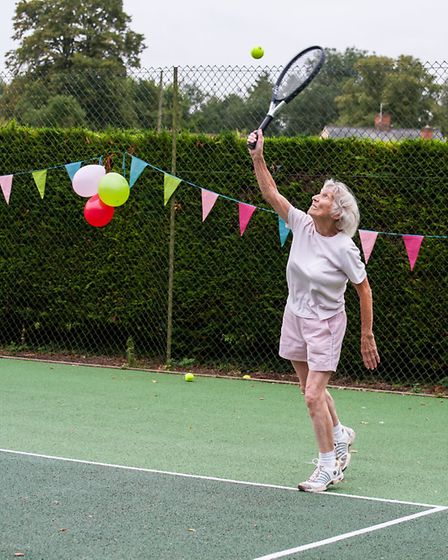 90-year-old tennis player