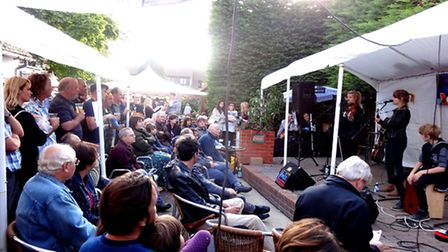 Emmay performing on the Folkstock stage at Balstock last year. Photo: Helen Meissner