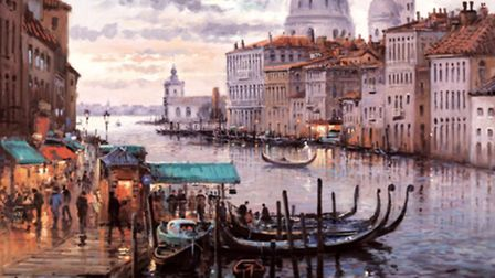 Henderson Cisz's work 'Crossing the Grand Canal'.