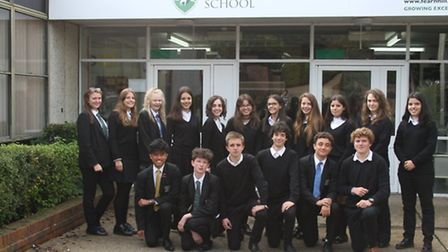 The Spanish exchange students mix with some of their Fearnhill counterparts.