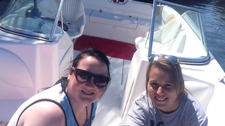 Letchworth couple Lois Reid and Sharly Thomas on the boat minutes before the horrific accident.