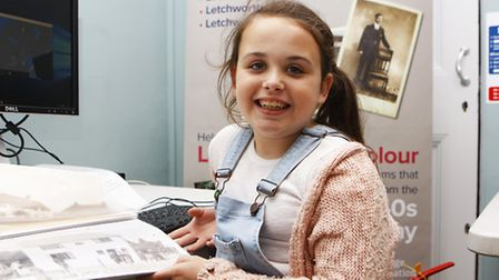 Nine-year-old Neave Bendon making Letchworth in Minecraft.