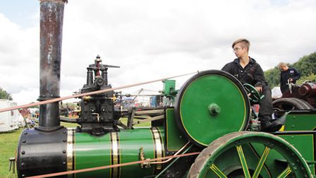 Harrison Saunders, grandson of the famous John Saunders, in charge of the Wallis agricultural engine