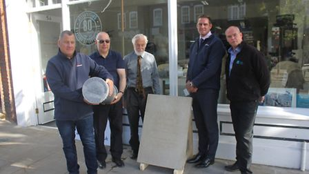 The burial of the Martins of Letchworth time capsule in Leys Avenue.