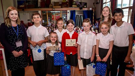 The Garden City Collection's Sophie Dimond and Vicky Axell with competition runners-up from Norton S