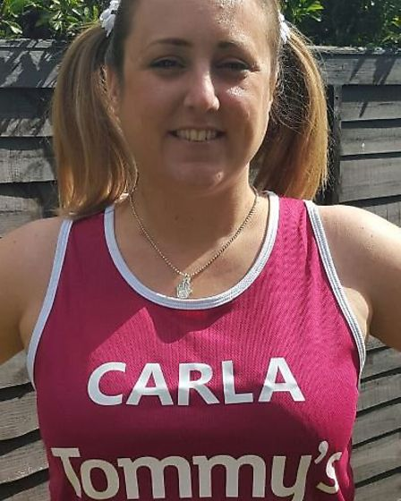 Carla Pilsworth is raising money for Tommy's - a charity which supported her after her daughter Dais