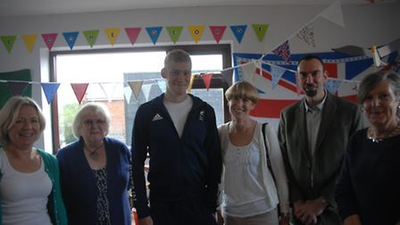Fledglings welcomed Paralympic triathlete George Peasgood back from Rio.