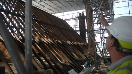 The town hall roof renovation