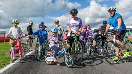 Folks of all ages were welcome to take part in the family lap at the Silverstone Time Trial Challeng