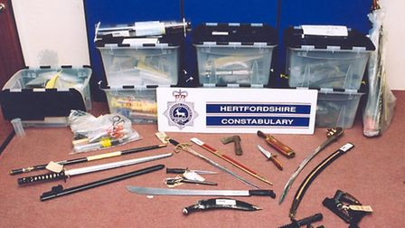 Knives confiscated in a previous amnesty in 2002.