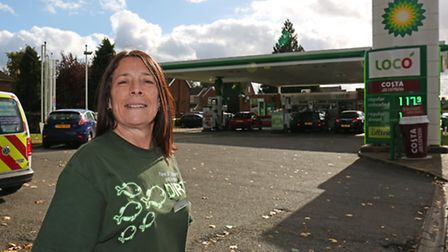 Angie Catania showed quick thinking to turn off the petrol pumps and clear the forecourt after a car