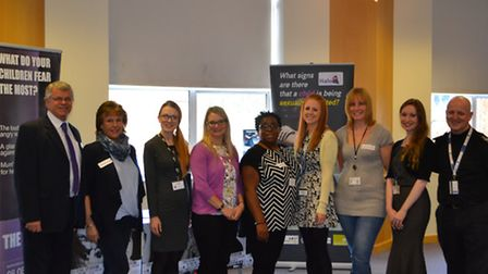 Representatives at the conference. Left to right: North Herts safer neighbourhood team inspector Dun