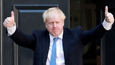 Boris Johnson in the House of Commons. Photograph: UK Parliament/Jessica Taylor/PA Wire .