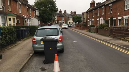 The corner of Bunyan Road and Duke's Lane has also been closed off. Photo: Layth Yousif