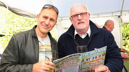Phil Oram and Peter Blacker at the Half Moon Best of British Beer Festival.