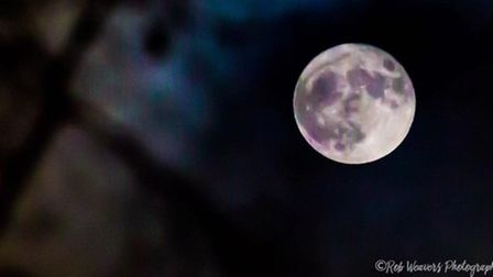 Rob Weavers' eerie supermoon shot in Hitchin. Picture: Rob Weavers Photography