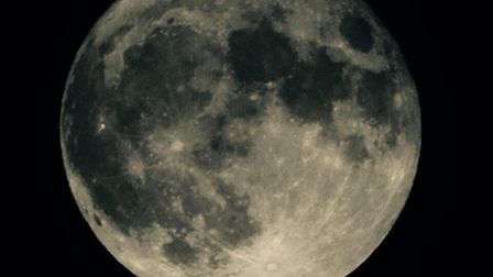 Dawn Brown took this picture of the supermoon from her home in Chells, Stevenage.