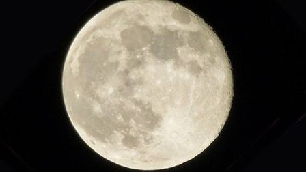 Carol Cooper said she took advantage of a break in the cloud to take this supermoon picture in the B