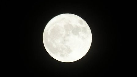 ...But was able to get this striking supermoon shot in Bigglewade. Picture: Tim Huckle