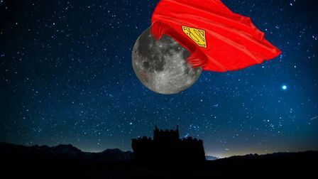Ryan Milner took a less serious appraoch with his supermoon mock up posted in the This is Hitchin wi