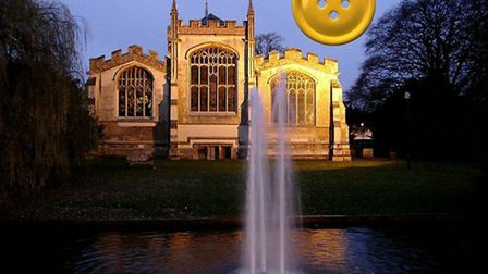 Ryan Milner's 'button moon', another spoof supermoon effort he posted in the This is Hitchin with ad