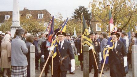 Don Presland doing his duties for the Royal British Legion.
