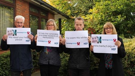 The Hertfordshire Community Foundation team are appealing to people to get behind the charity's Surv