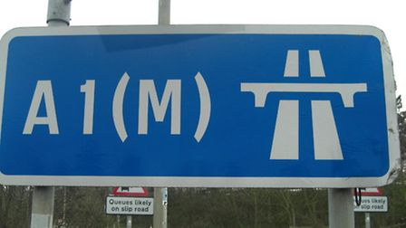 The A1(M) has been shut southbound at Junction 8 for Stevenage after a crash involving a motorcyclis