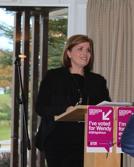 Cllr Julie Redfern addresses the Uttlesford District Council-organised business breakfast. Photo: Da