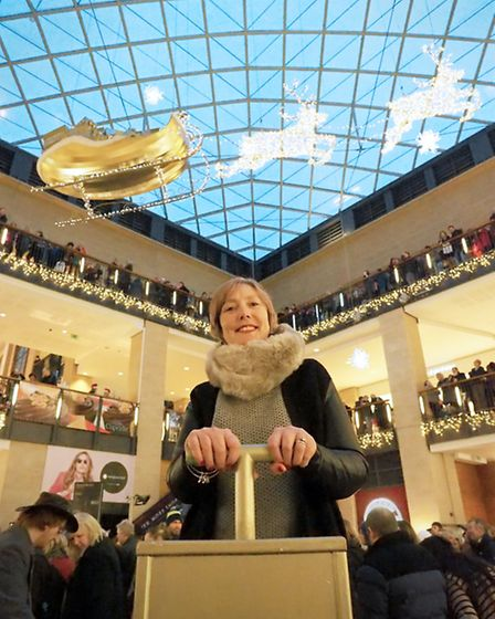 Natalie Emuss having switched on the Christmas lights at the Grand Arcade in Cambridge