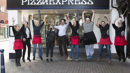 The team at Hitchin's Pizza Express