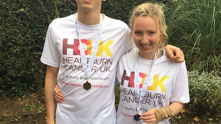 James and Ellie Butt both ran the Stevenage Half Marathon on Sunday in memory of their dad Andy, who