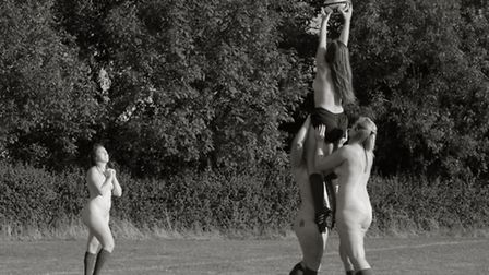 Hitchin Ladies Rugby team - naked calendar