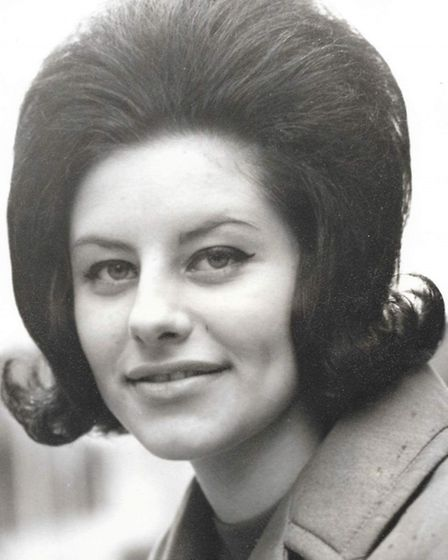 A young Anita Waller, who has now retired from hairdressing after three decades in the profession.