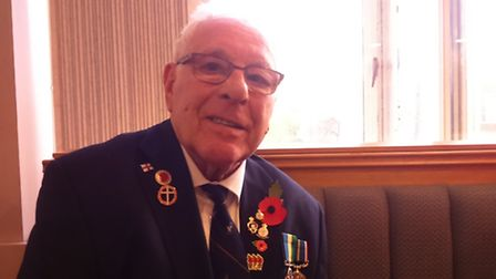 Terrence Gray attended the Armistice Day service in Stevenage town centre on Friday.