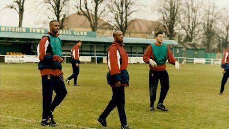 Arsenal at Hitchin Town's Top Field