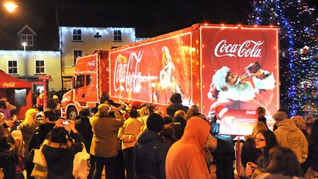 Coca-Cola Lorry in Ely. Picture: Steve Williams.