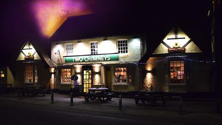The Two Chimneys pub in Letchworth, where there was a fire in an outbuilding on December 4.