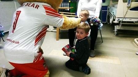 Boro the Bear was a highlight with the kids.