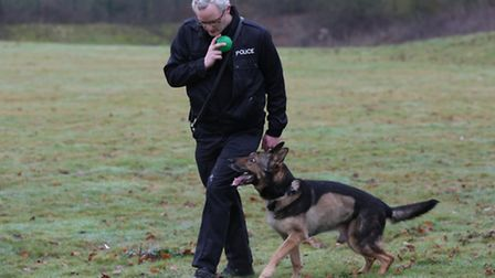 PC Dave Wardell with PD Finn who is ready to return to work.