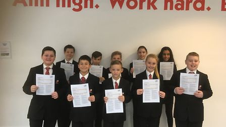 Marriotts Pupils show their delight after Ofsted success