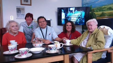Members of the dementia support team with patients
