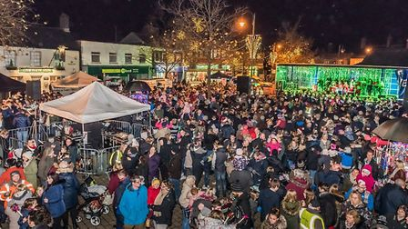 Biggleswade town centre for the Christmas lights swith-on last week.
