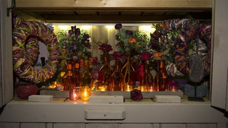 Decorations at the All in One Season Dutch Winter House in Letchworth. Photo: Kasia Burke