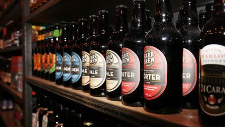 Inside the new Beer Shop in Hitchin.